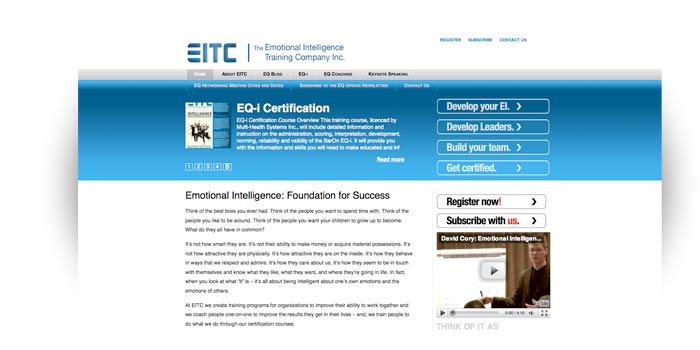 the Emotional Intelligence Training Company Inc., website