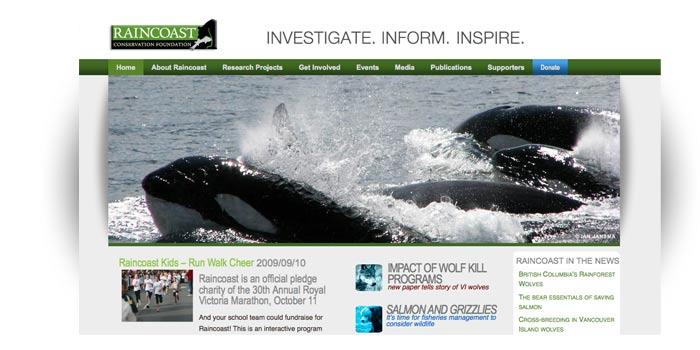 Raincoast Conservation Foundation Website