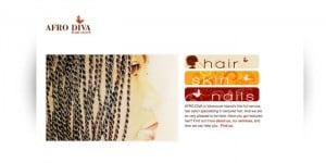 AFRO DIVA Hair Salon website