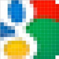 Google favicon zoomed in