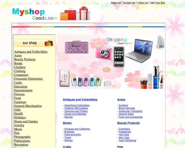 MyShopGood.com screenshot