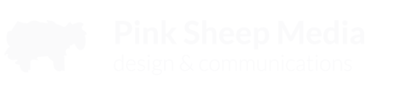 Pink Sheep Media logo: Design & Communications